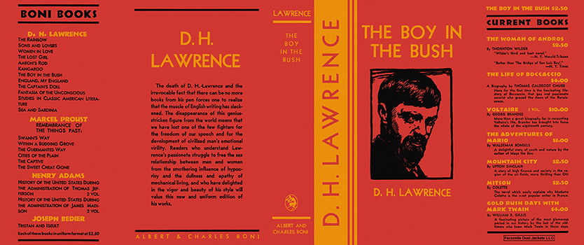 Boy in the Bush, The. D. H. Lawrence.