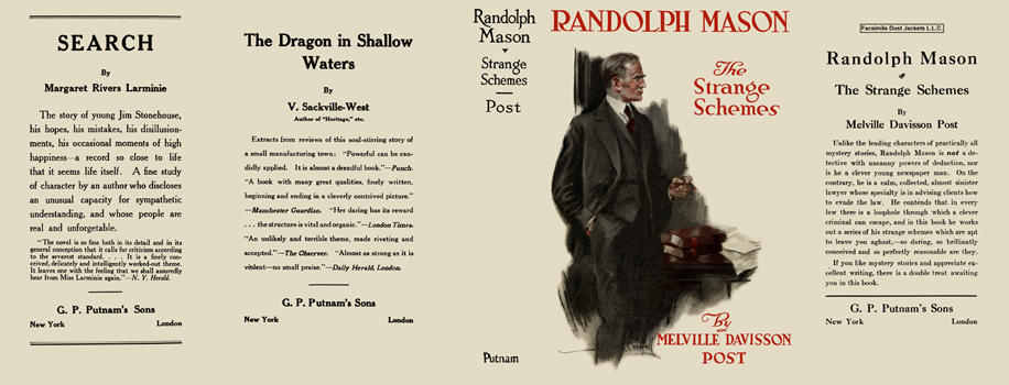 Randolph Mason, The Strange Schemes. Melville Davisson Post.