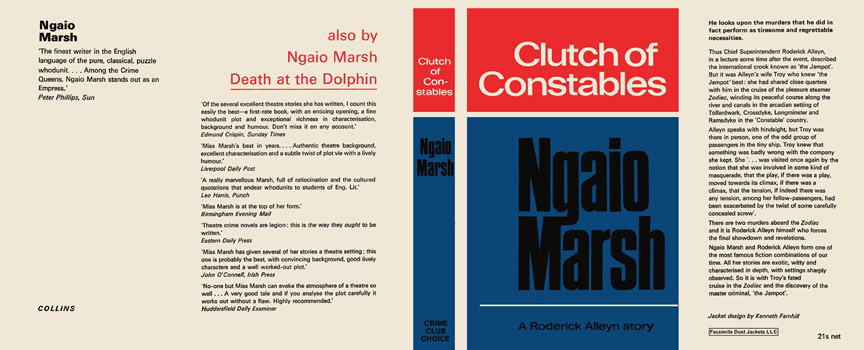 Clutch of Constables. Ngaio Marsh.