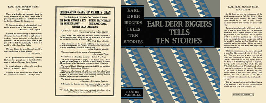 Earl Derr Biggers Tells Ten Stories. Earl Derr Biggers