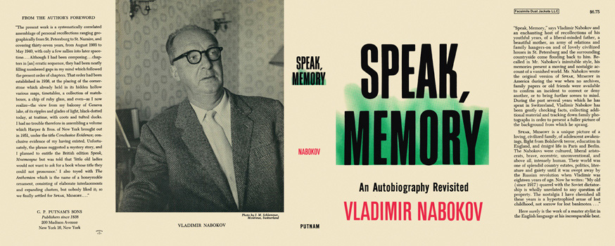 Speak, Memory. Vladimir Nabokov