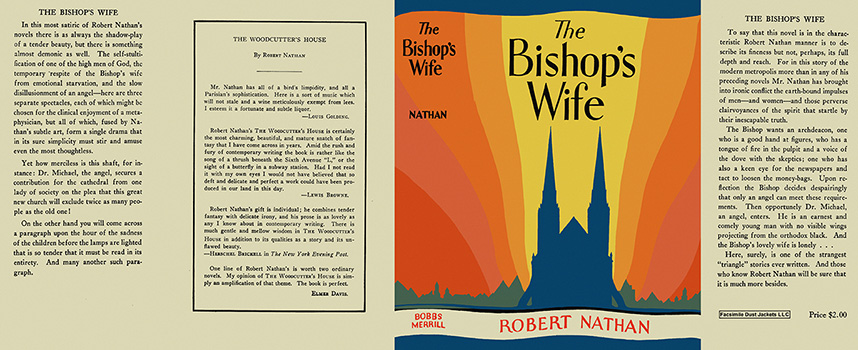 Bishop's Wife, The. Robert Nathan.