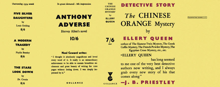Chinese Orange Mystery, The. Ellery Queen