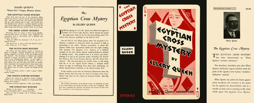Egyptian Cross Mystery, The. Ellery Queen