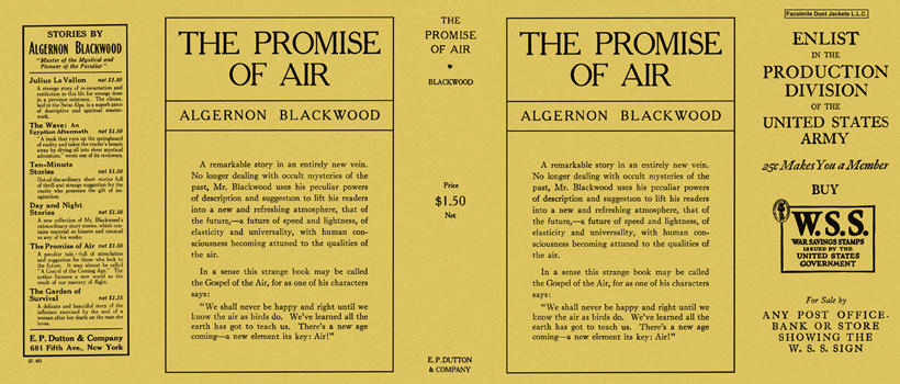 Promise of Air, The. Algernon Blackwood