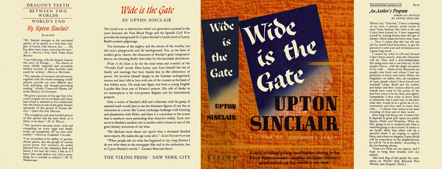 Wide Is the Gate. Upton Sinclair.