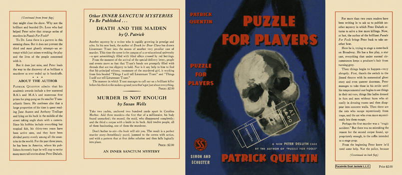 Puzzle for Players. Patrick Quentin.