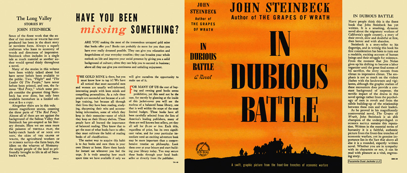 In Dubious Battle. John Steinbeck