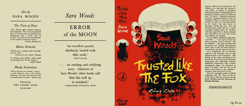 Trusted Like the Fox. Sara Woods.