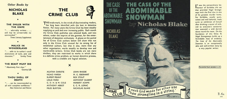 Case of the Abominable Snowman, The. Nicholas Blake