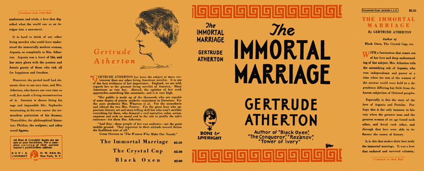 Immortal Marriage, The. Gertrude Atherton.