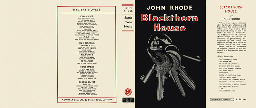 Blackthorn House. John Rhode
