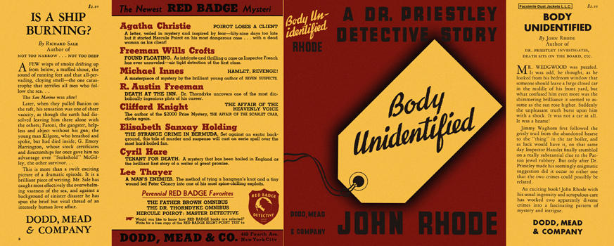 Body Unidentified. John Rhode