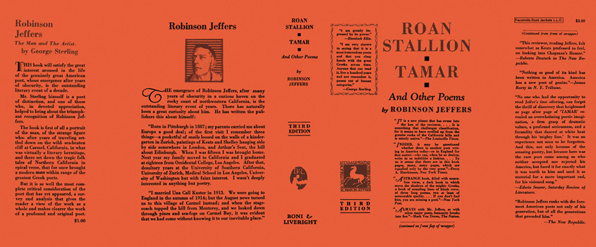 Roan Stallion, Tamar, and Other Poems. Robinson Jeffers