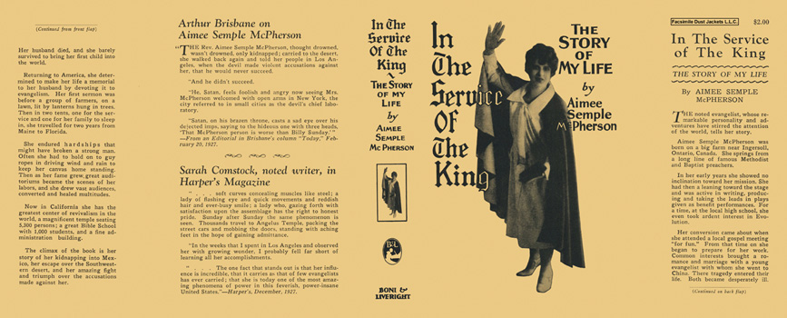 In the Service of the King, The Story of My Life. Aimee Semple McPherson