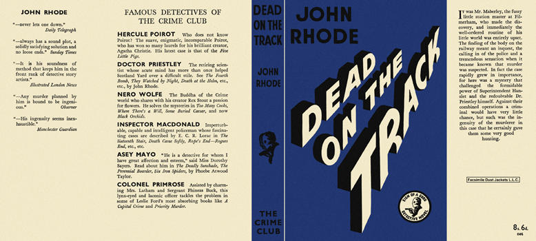 Dead on the Track. John Rhode.
