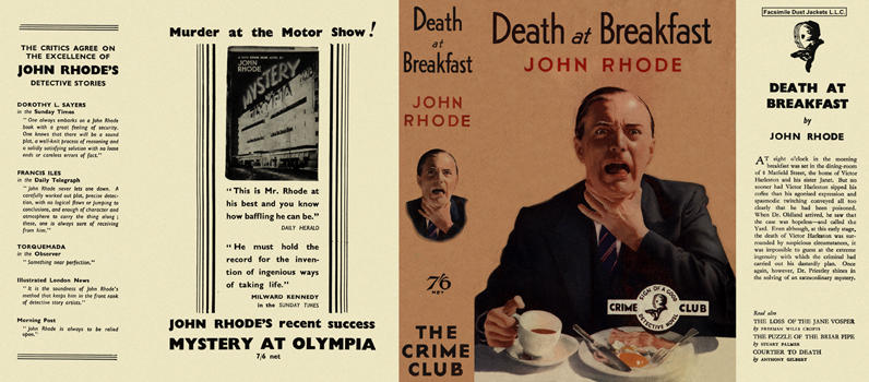 Death at Breakfast. John Rhode.