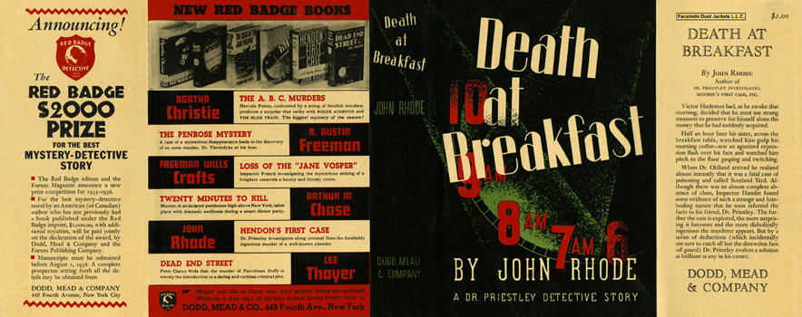 Death at Breakfast. John Rhode