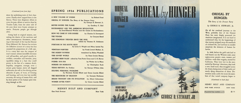 Ordeal by Hunger, The Story of the Donner Party. George R. Stewart