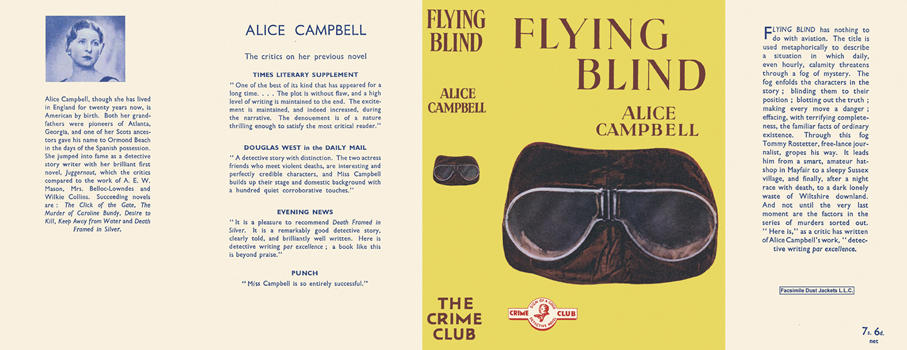 Flying Blind. Alice Campbell
