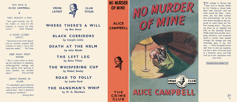 No Murder of Mine. Alice Campbell.