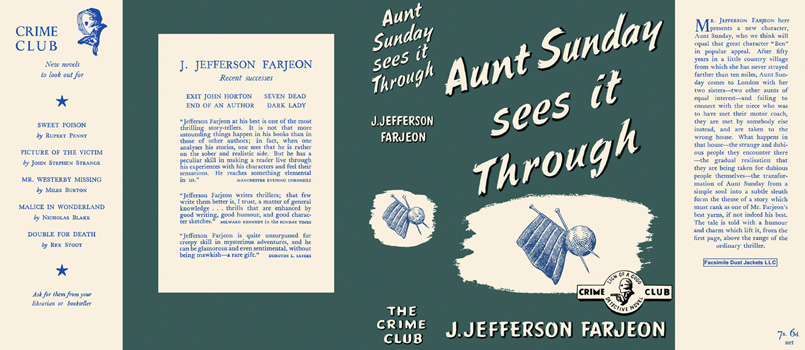 Aunt Sunday Sees It Through. J. Jefferson Farjeon.