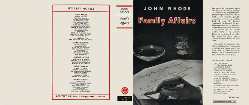 Family Affairs. John Rhode