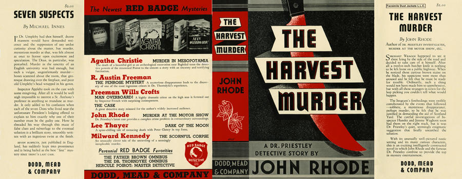 Harvest Murder, The. John Rhode