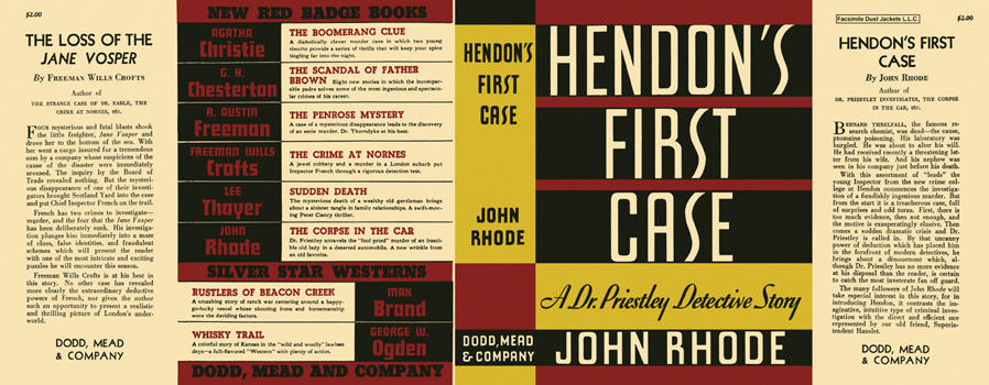Hendon's First Case. John Rhode
