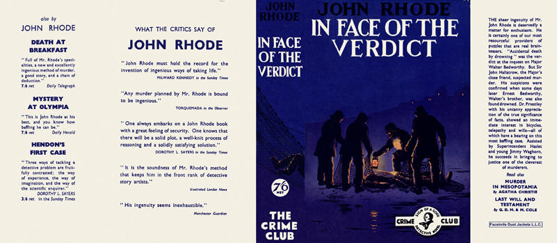 In Face of the Verdict. John Rhode
