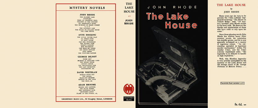 Lake House, The. John Rhode