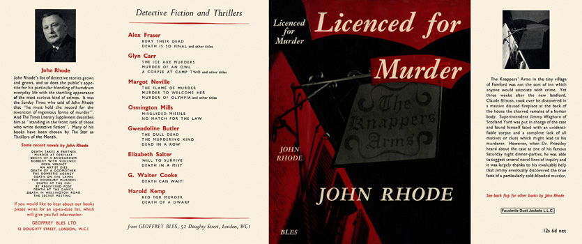 Licenced for Murder. John Rhode