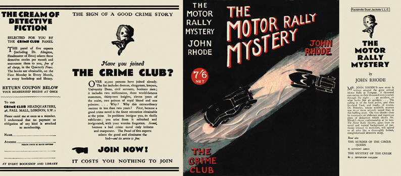 Motor Rally Mystery, The. John Rhode