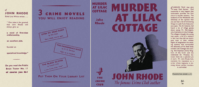 Murder at Lilac Cottage. John Rhode