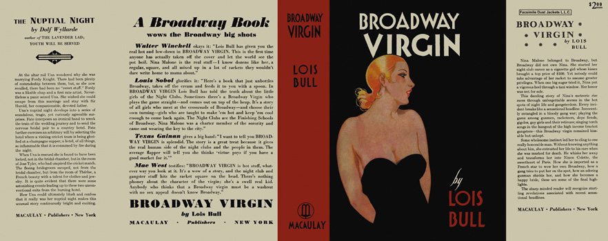 Broadway Virgin. Lois Bull.