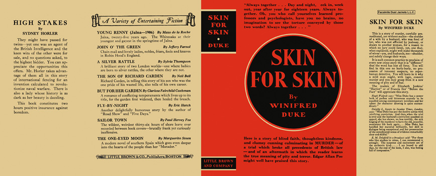 Skin for Skin. Winifred Duke.