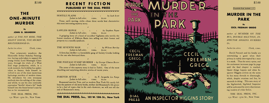Murder in the Park. Cecil Freeman Gregg.