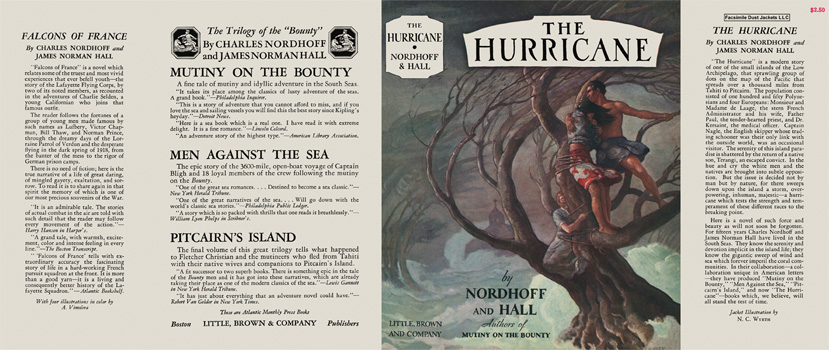 Hurricane, The. Charles Nordhoff, James Norman Hall.