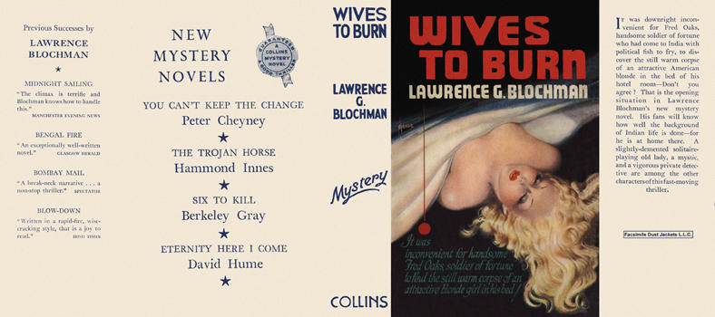 Wives to Burn. Lawrence G. Blochman.