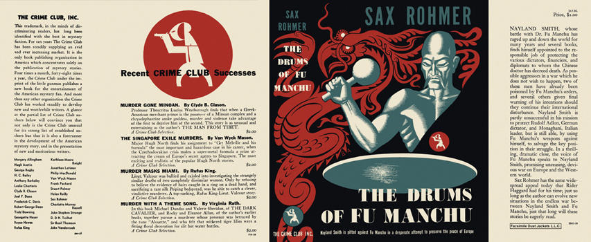 Drums of Fu Manchu, The. Sax Rohmer