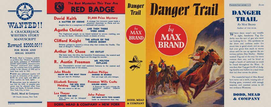 Danger Trail. Max Brand.