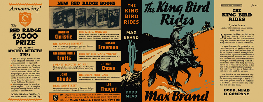 King Bird Rides, The. Max Brand.