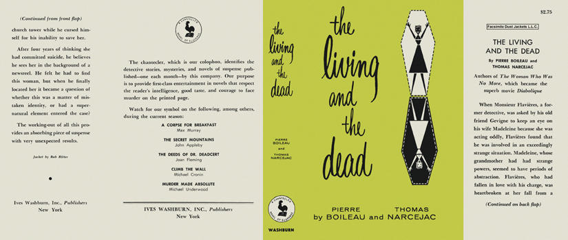 Living and the Dead, The. Pierre Boileau, Thomas Narcejac.
