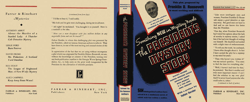 President's Mystery Story, The. Franklin D. Roosevelt, Anthology.