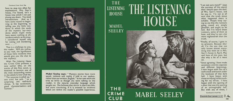 Listening House, The by Mabel Seeley on Facsimile Dust Jackets, LLC