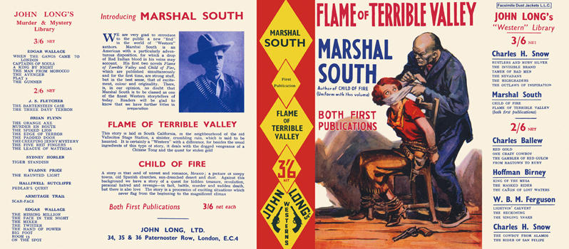 Flame of Terrible Valley. Marshal South.