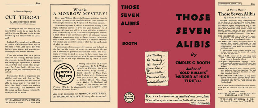 Those Seven Alibis. Charles G. Booth.