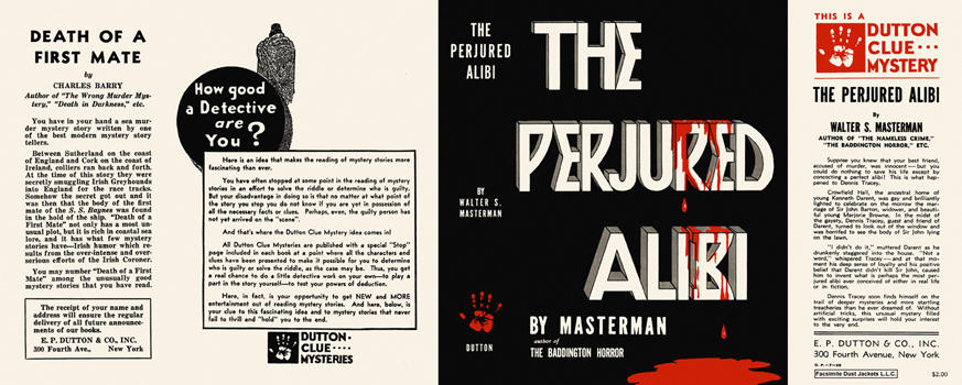 Perjured Alibi, The. Walter S. Masterman.