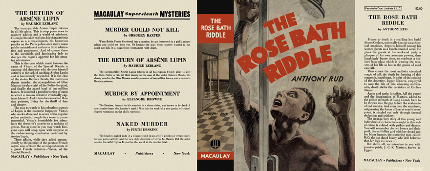 Rose Bath Riddle, The. Anthony Rud.