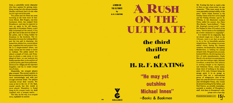 Rush on the Ultimate, A. H. R. F. Keating
